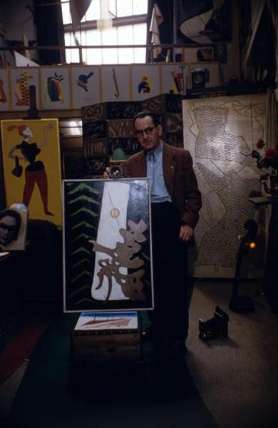 Man Ray in Studio