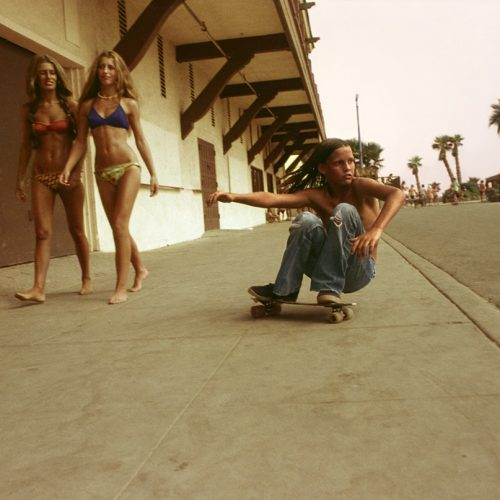 Sidewalk Surfer, The Promenade, Huntington Beach, 1975