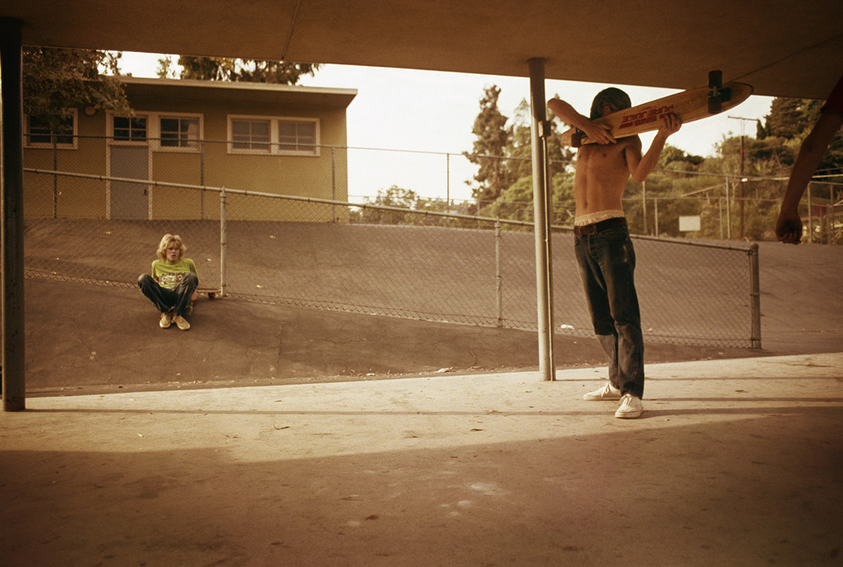 Skate Shooter, Kenter Canyon Elementary, Brentwood, 1976