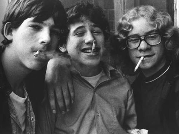 Boys smoking, 1974