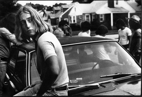 Tom on his car, 1977