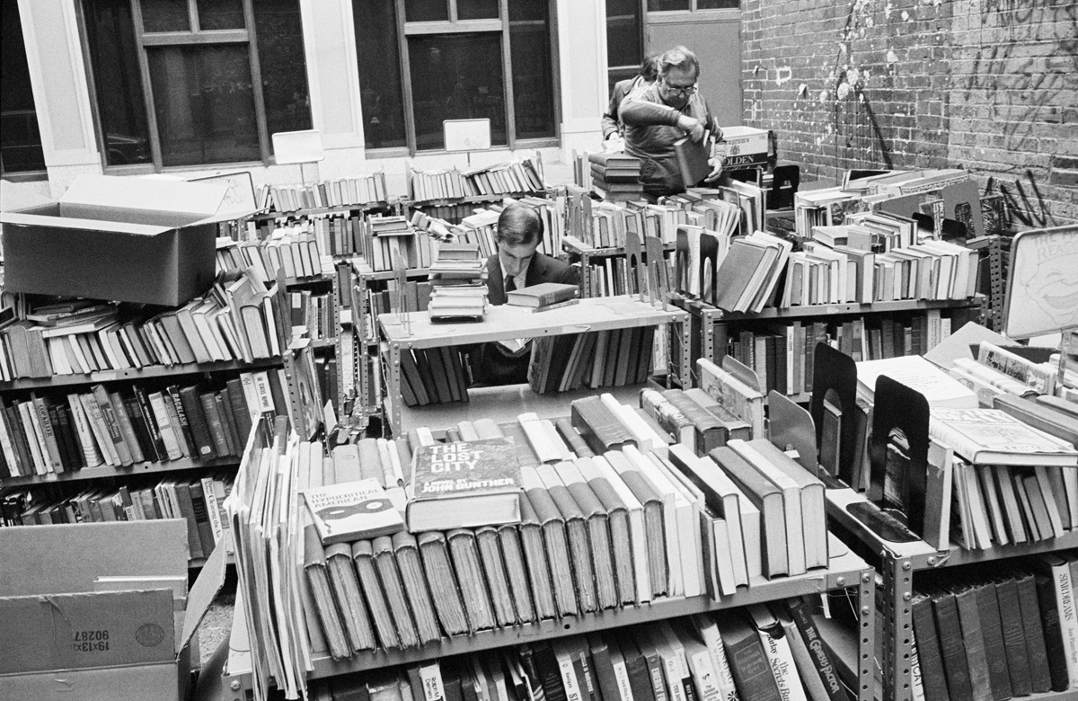 Men in bookshop