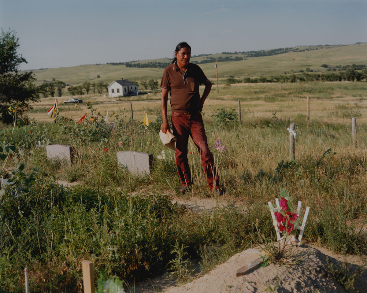 Native American in a Cemetery
