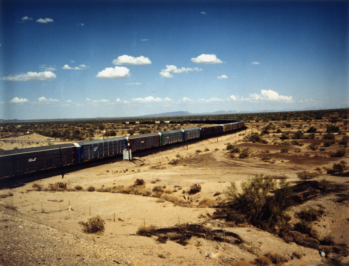 Train Carriages in the Desert