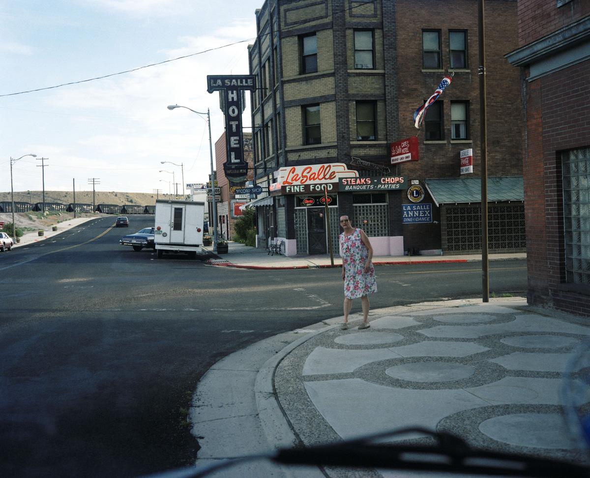 Woman in Dress in Street