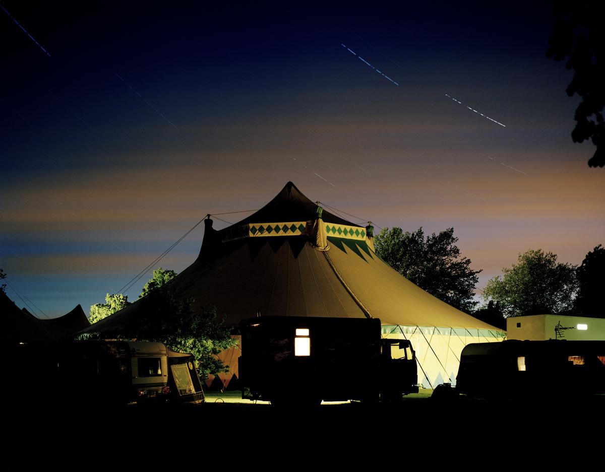 Untitled (circus-at-night-2, Farnham Park, Surrey, 2009, from the series 'pikari')