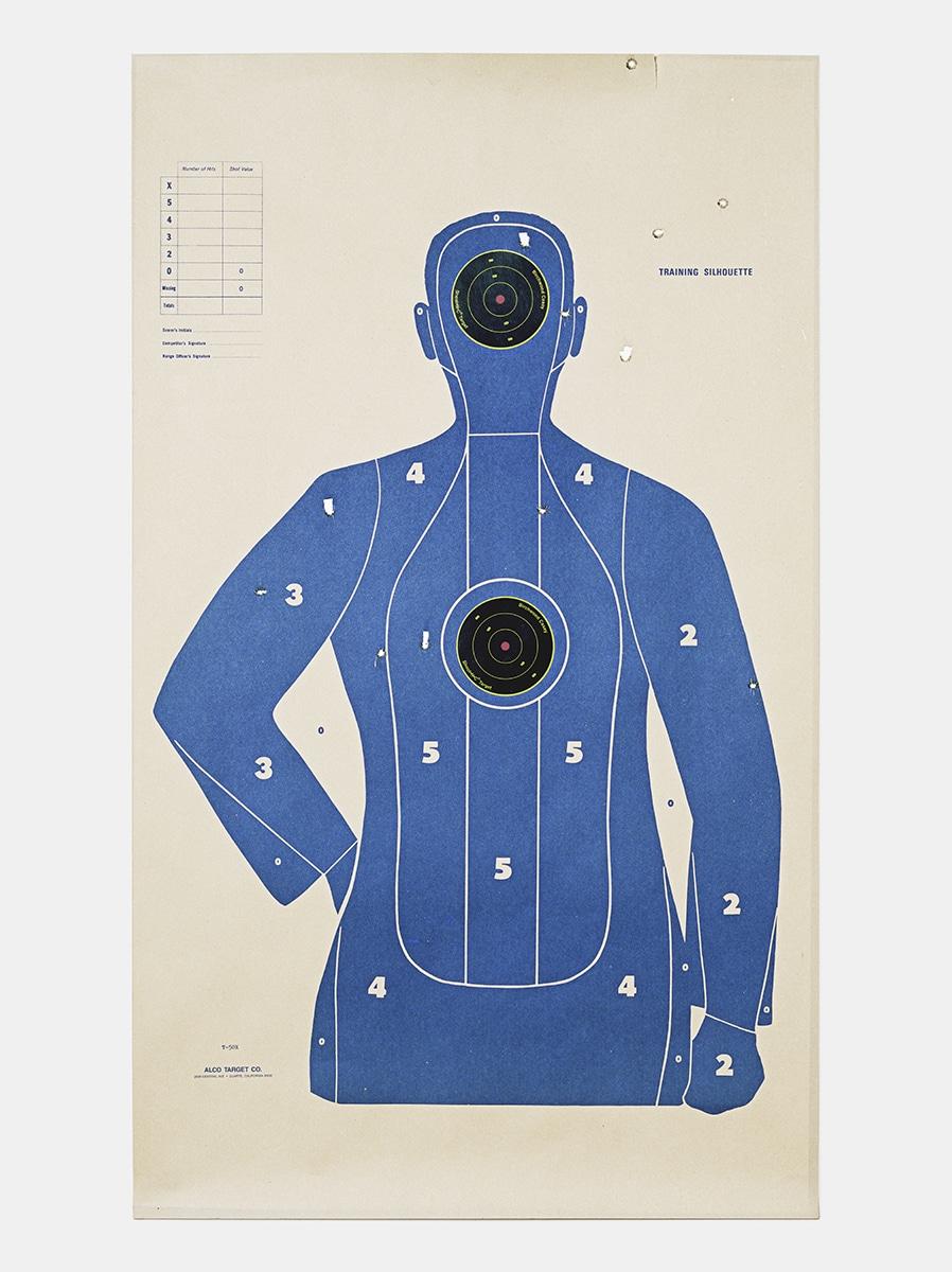 Target Q, 2016, from the series L.A. Gun Club
