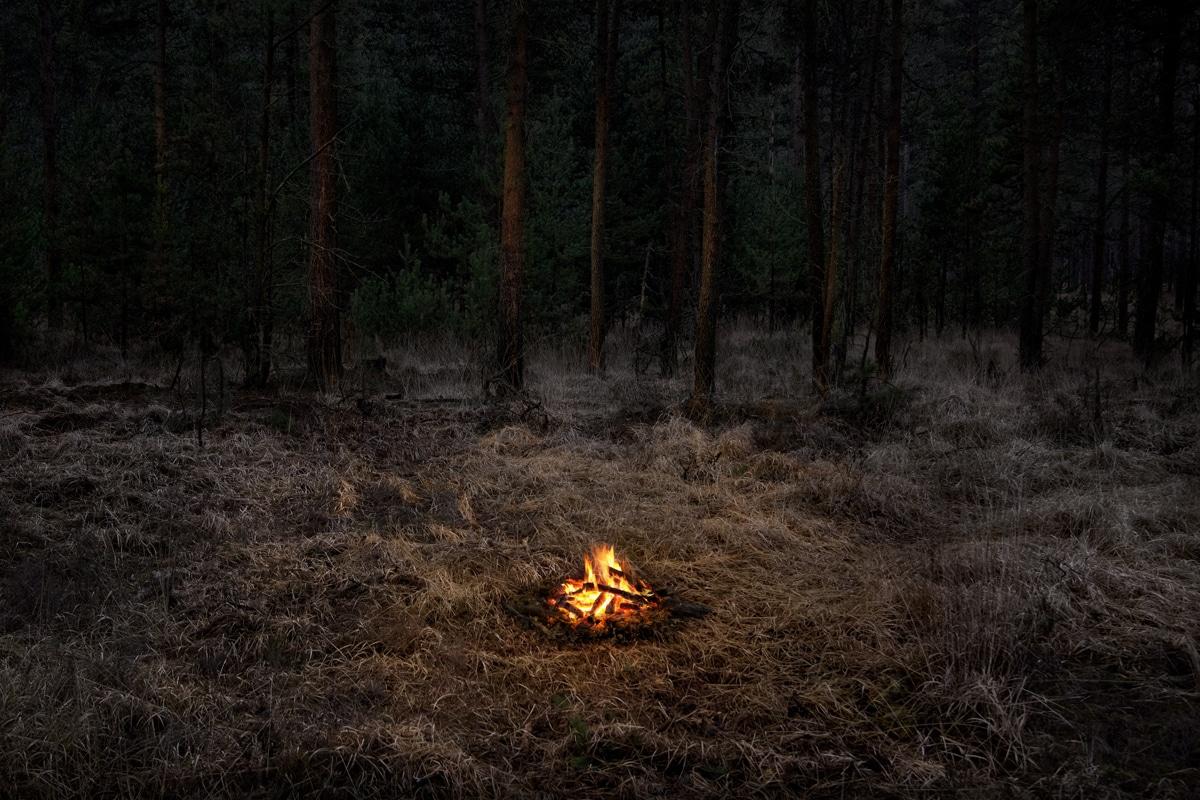 Fires 1, 2018 by Ellie Davies