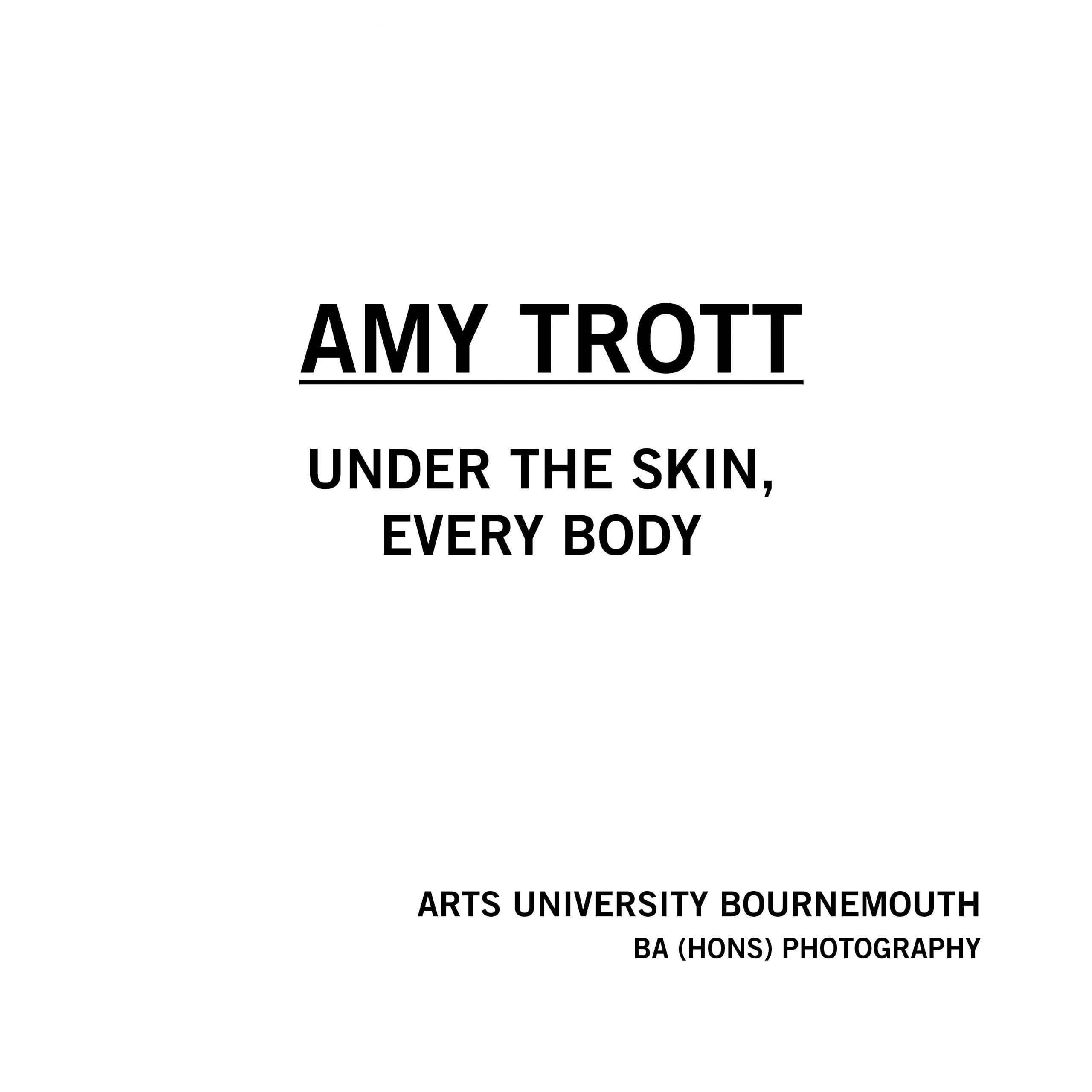 Amy Trott - Under The Skin, Every Body