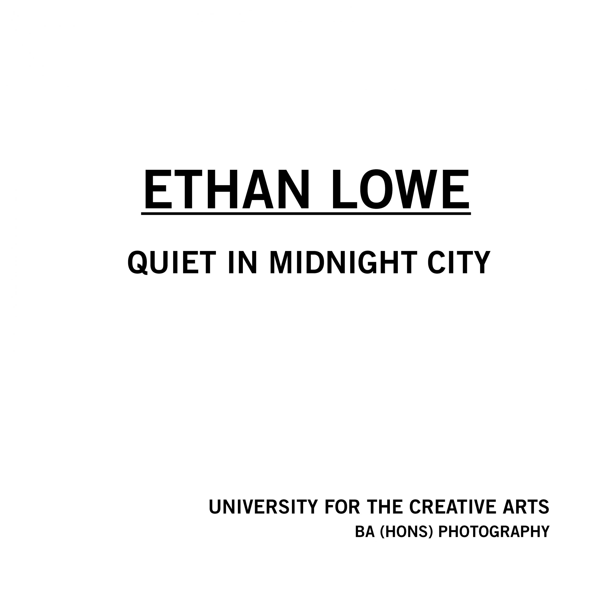 Ethan Lowe - Quiet in Midnight City