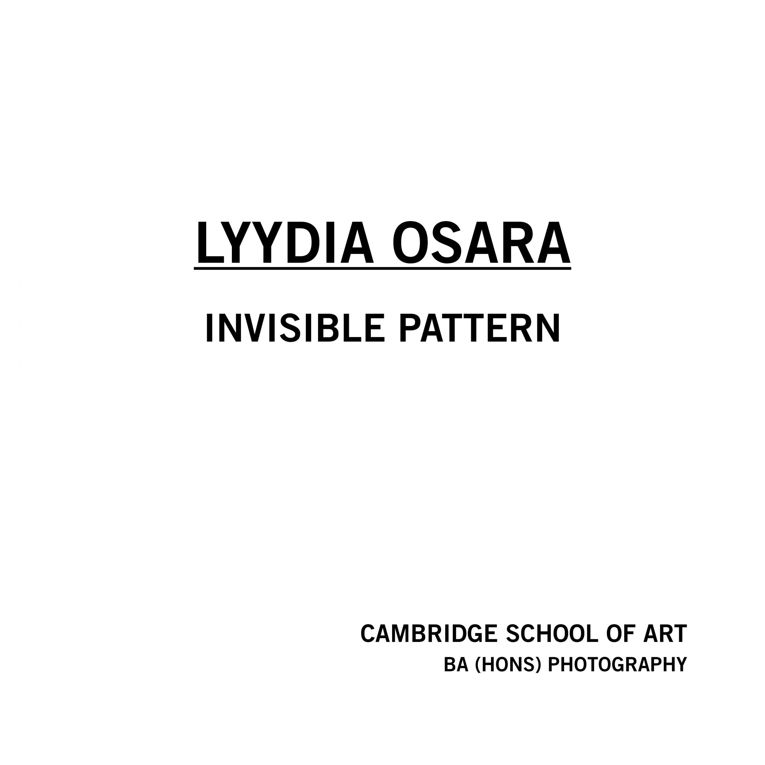Lyydia Osara- Invisible Pattern